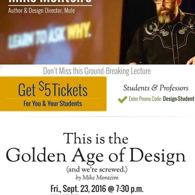 Everyone should to this lecture! design For more info httpwwwehceduothermikeindexhtml