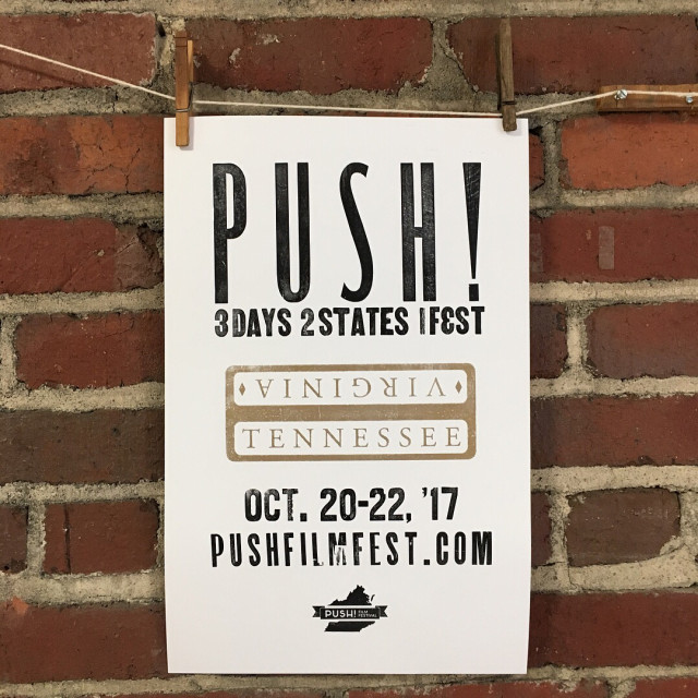 The pushfilmfest posters are done and drying! signofthegeorgepress kingdmad kinguniversity